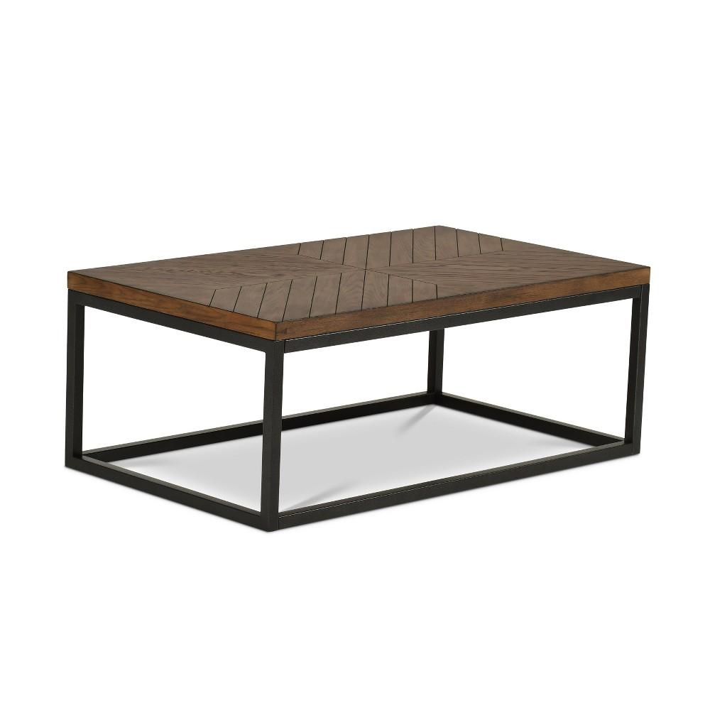 Aleka Modern Cocktail Table Dark Oak - Steve Silver