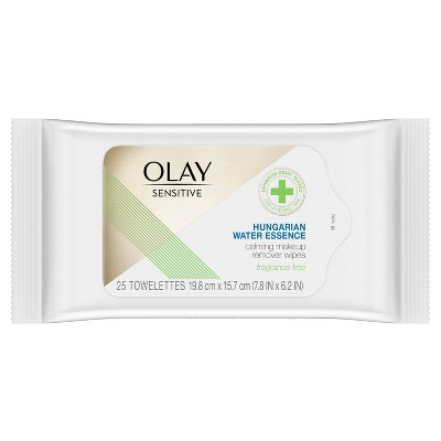 Facial Cleansing Wipes: Olay Sensitive Hungarian Water Essence Calming Makeup Remover Wipes