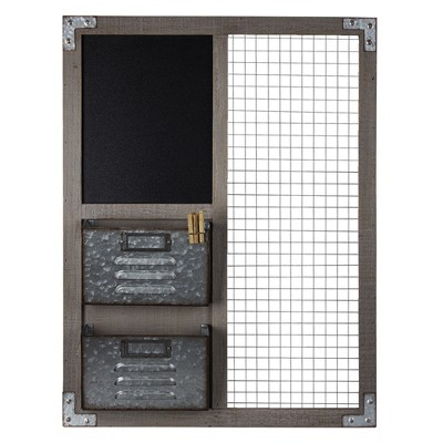 Metal And Wood Wall Organizer - E2 Concepts