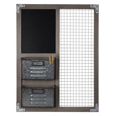 Metal And Wood Wall Organizer - E2 Concepts - image 1 of 7