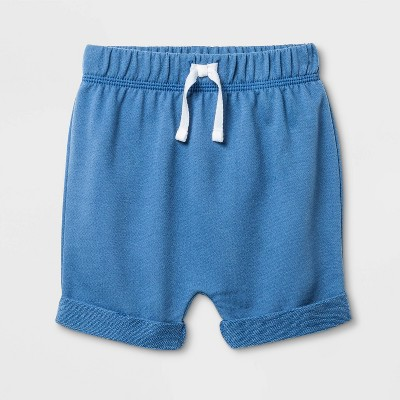 Baby Boys' Pull-On Shorts - Cat & Jack™ Blue 0-3M