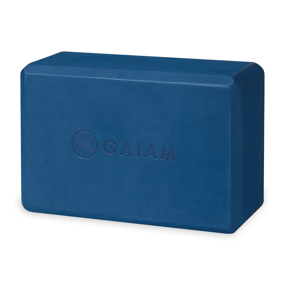 Gaiam Blooms Yoga Block - Navy (Blue)
