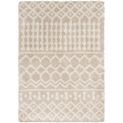 "7'10""x10'2"" Pinnacle Shag Global Rug Cream - Artistic Weavers"