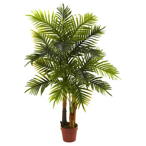 nearly natural areca palm tree green real touch 4 target