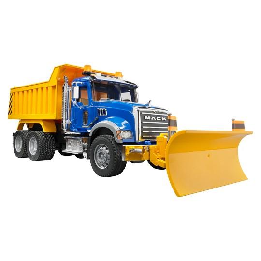Bruder Mack Granite Dump Truck with Snow Plow Blade image number null