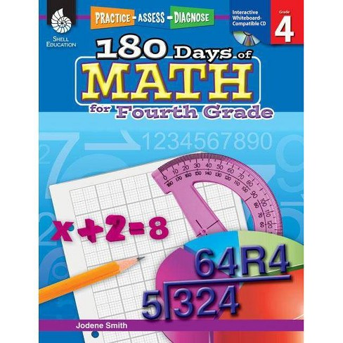 180 Days of Math for Fourth Grade (Grade 4) - (Practice, Assess, Diagnose) by  Jodene Smith - image 1 of 1