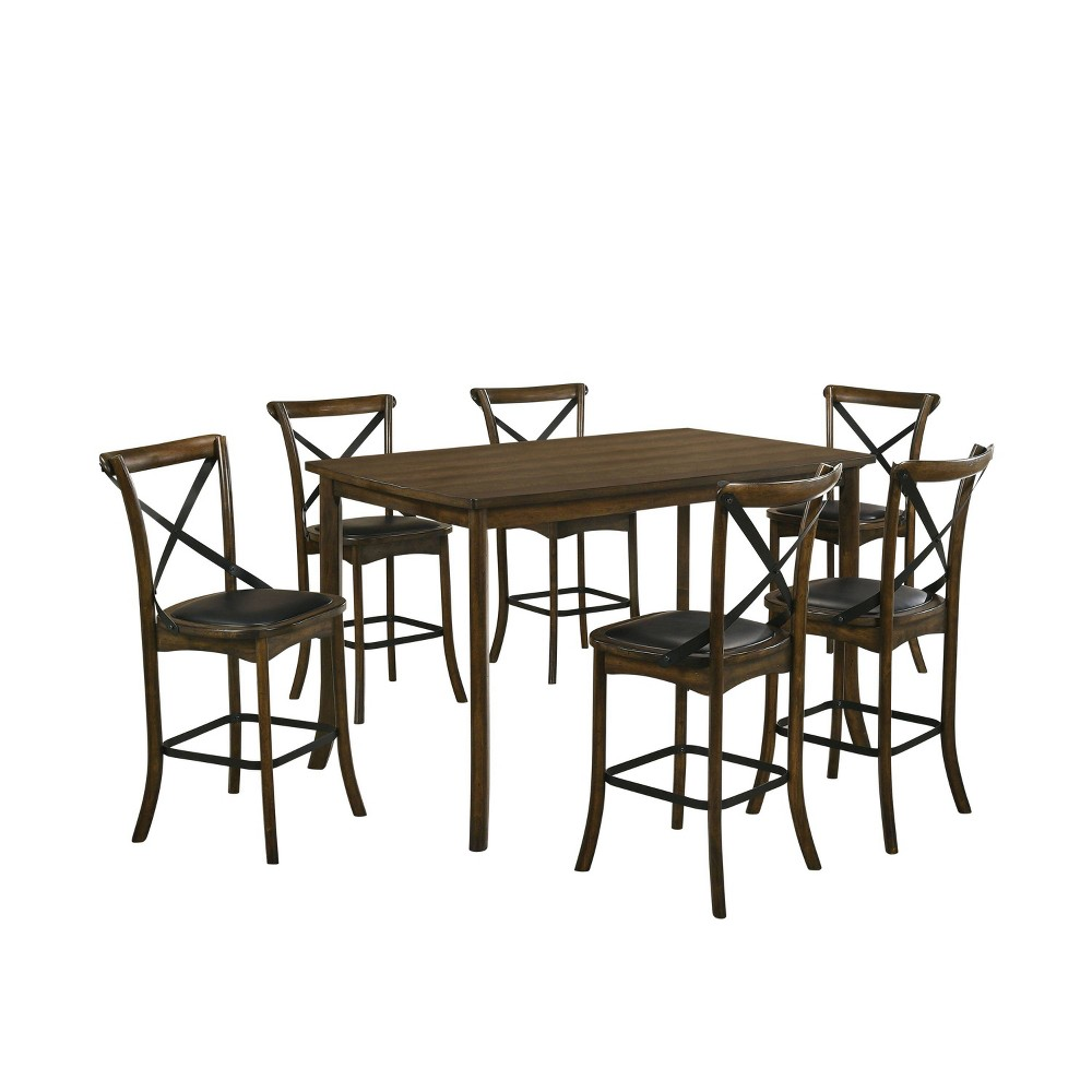 Discounts 7pc Somers Counter Height Dining Set Oak - HOMES: Inside + Out