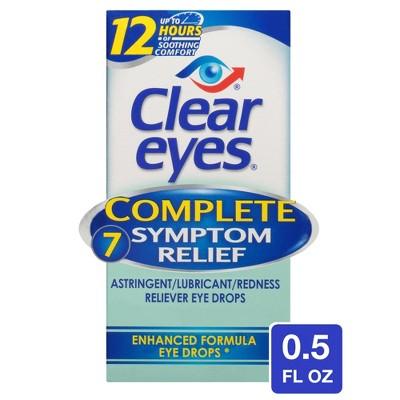 Clear Eyes Complete 7 Symptom Relief Enhanced Formula Eye Drops - 0.5 fl oz