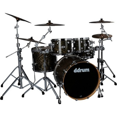 ddrum Dominion Birch 5-piece Shell Pack with Ash Veneer Trans Black