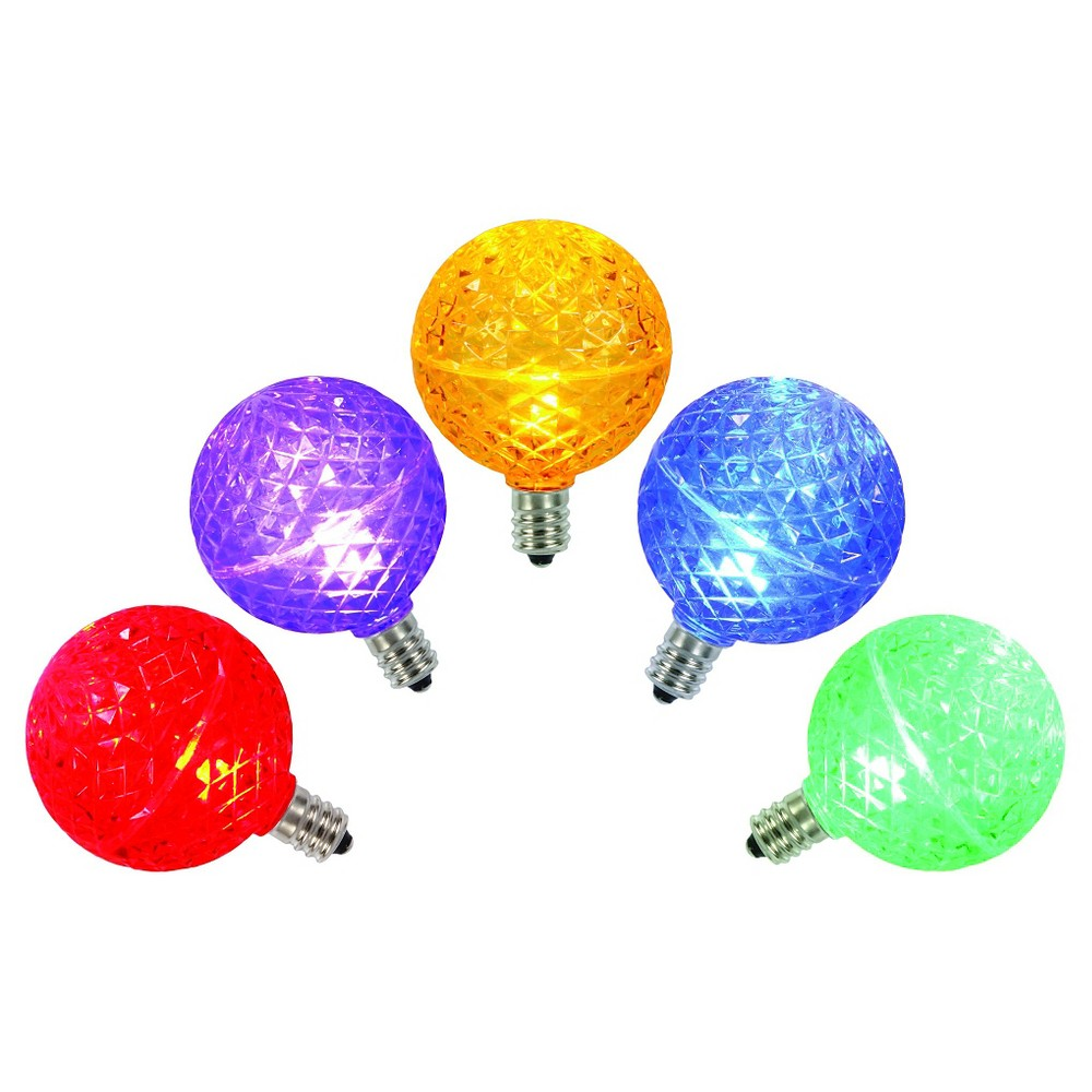 5ct G50 Christmas Multicolored String Led Lights, Multi-Colored