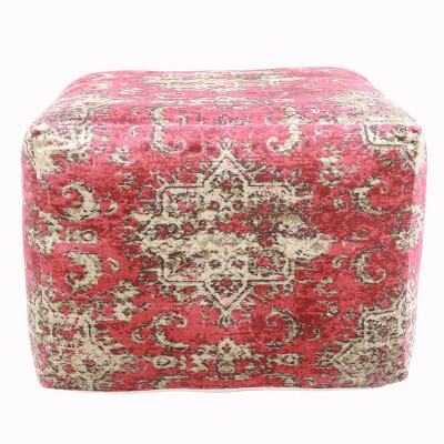 Olivia Square Moroccan Inspired Pouf - Décor Therapy