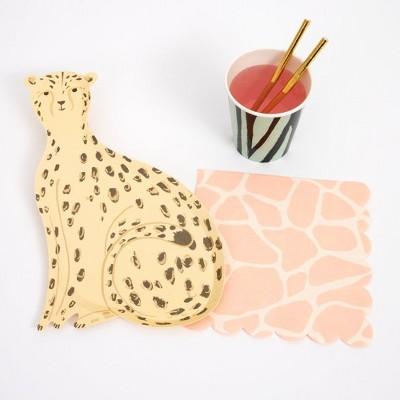 Meri Meri - Safari Party Supplies Collection (Plate, Napkin, Cup) - Set of 8