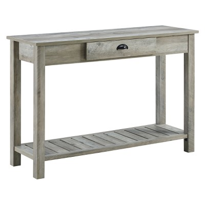 Rustic Farmhouse Entry Table With Lower Shelf - Saracina Home : Target