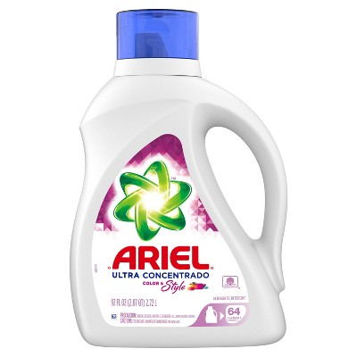 Ariel Ultra Concentrated Color & Style Liquid Laundry Detergent - 92 fl oz
