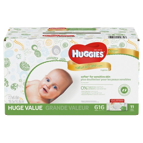 huggies wipes natural care baby wipes 616ct target