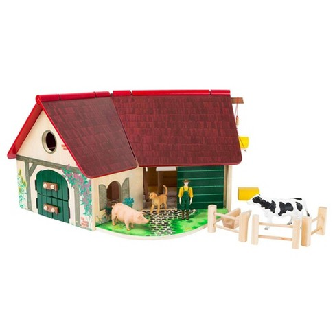 Small Foot Wooden Toys Farmhouse Barn Woodfriends Playworld - image 1 of 4