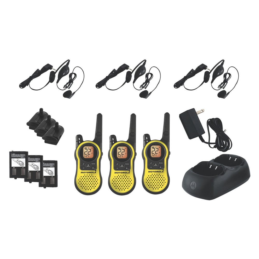 Motorola Talkabout Frs/Gmrs 2 Way Radio 23 Mile Range - Yellow (MH230TPR)