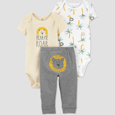 Baby Boys' Lion Top & Bottom Set - Just One You® made by carter's Yellow 3M