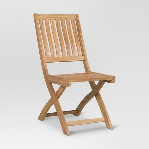 Wood Bistro Patio Chair - Threshold™ - image 1 of 2