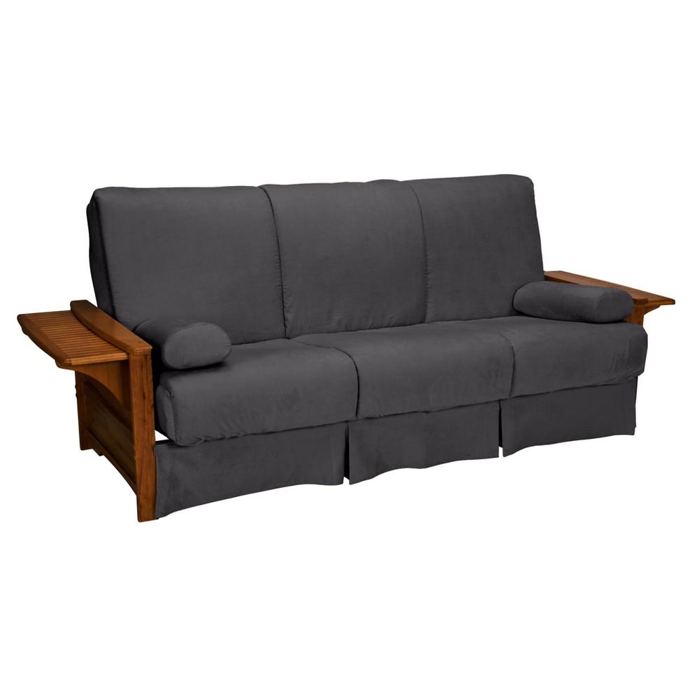 Groovy Brooklyn Perfect Futon Sofa Sleeper Walnut Oak Finish Epic Machost Co Dining Chair Design Ideas Machostcouk