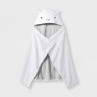 Baby's Polar Bear Hooded Towel - Cloud Island™ White One Size