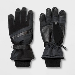 Men's Zip Pocket Ski Gloves - Goodfellow & Co™ Black