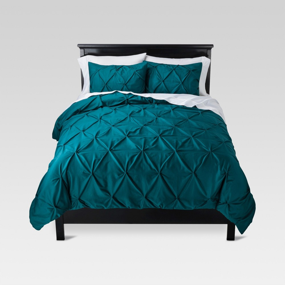 Teal (Blue) Pinch Pleat Comforter Set (Twin Extra Long) 2pc - Threshold