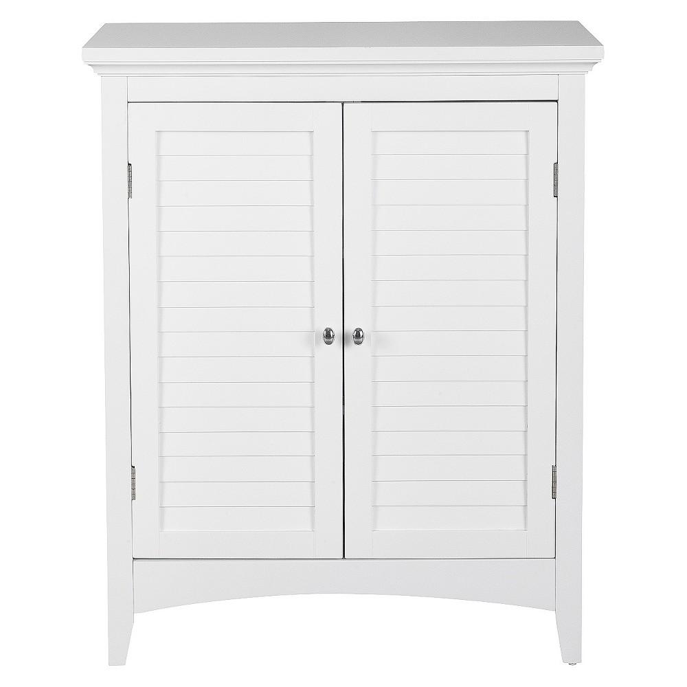 Elegant Home Fashion Slone 2 Door Shuttered White Floor Cabinet