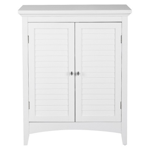 Elegant Home Fashion Slone 2 Door Shuttered White Floor Cabinet - image 1 of 4