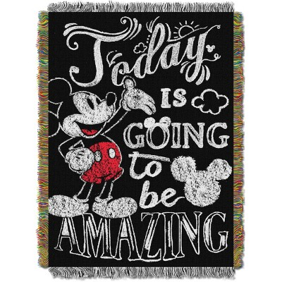 Classic Mickey Mouse Amazing Day Tapestry Throw
