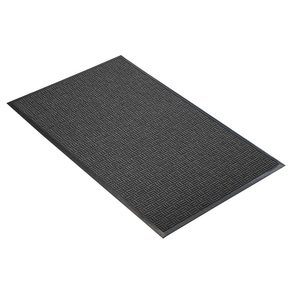 Image of Charcoal Solid Doormat - (3'X5') - HomeTrax, Grey