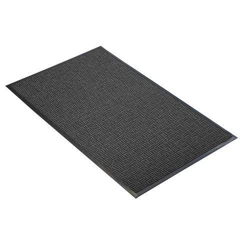 Charcoal Solid Doormat - (3'X5') - HomeTrax - image 1 of 4