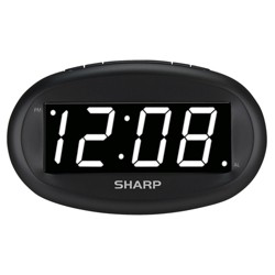 Sharp Large Display Digital Alarm Clock
