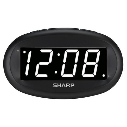 Sharp Large Display Digital Alarm Clock - image 1 of 3