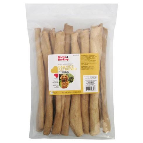 Chicken Flavored Rawhide Retriever Sticks Dog Treats - 18ct - Boots & Barkley™ - image 1 of 3