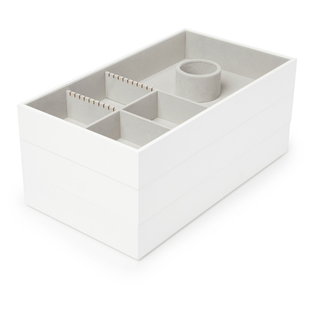Image of Avante Accessory Trays 3 Set White - Loft by Umbra, Adult Unisex