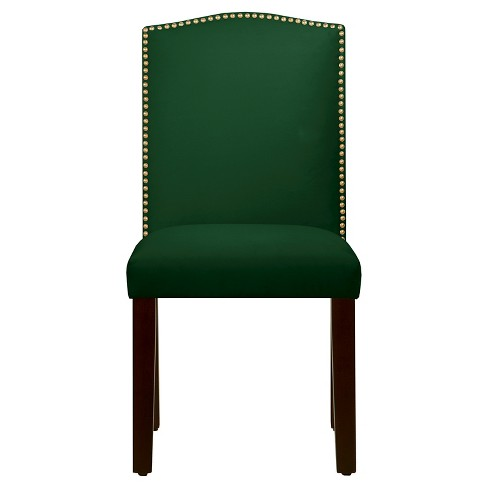 Nail Button Arched Dining Chair - Fauxmo Emerald - Skyline Furniture - image 1 of 4
