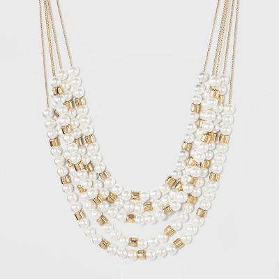 5 Row Layered Necklace - A New Day™ Gold