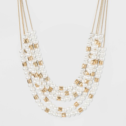 5 Row Layered Necklace - A New Day™ Gold - image 1 of 3