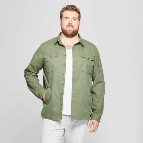 Men's Big & Tall Standard Fit Long Sleeve Utility Shirt Jacket - Goodfellow & Co™ - image 1 of 3