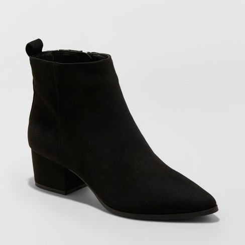 Women's Valerie Microsude City Ankle Fashion Boots - A New Day™ - image 1 of 3