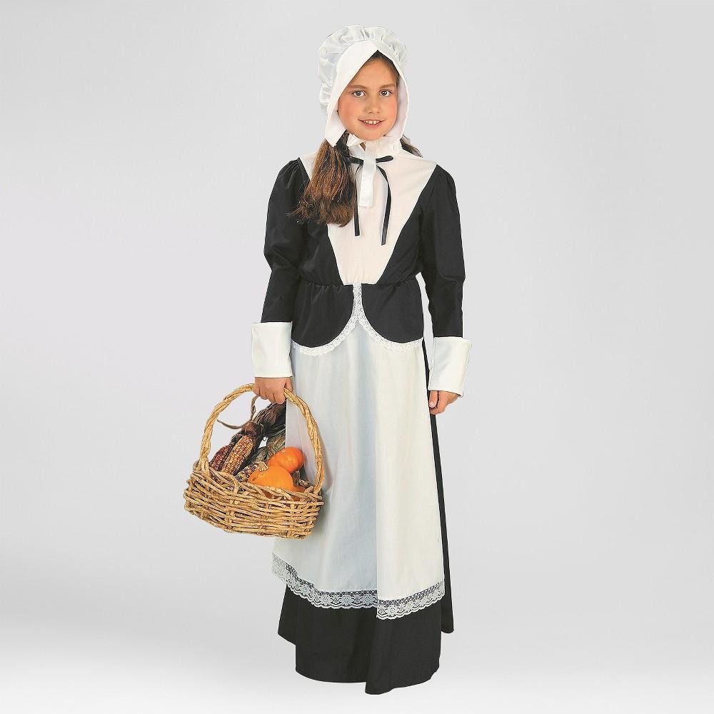 Image of Halloween Girls' Pilgrim Halloween Costume L - Forum Novelties, Girl's, Size: Large, MultiColored