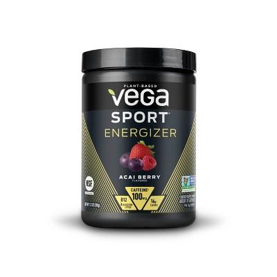 Vega Sport Energizer - Pre Workout Dietary Supplement - Acai Berry - 11.2oz