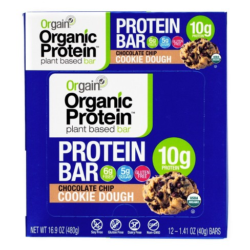 Orgain Organic Protein Bar - Chocolate Chip Cookie Dough - 1.41oz/12ct - image 1 of 4