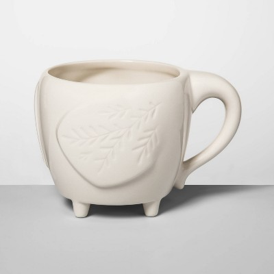 14oz Stoneware Elephant Figural Mug Cream - Opalhouse™