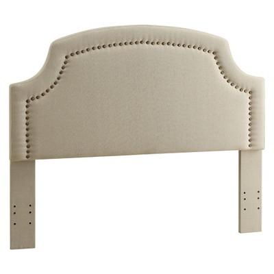 Regency Full/Queen Size Headboard Light Off-White Linen - Linon