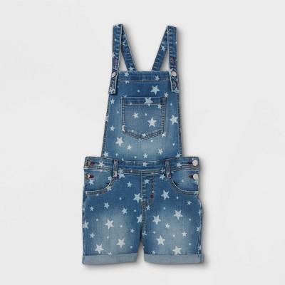 Girls' Star Double Cuff Hem Jean Shorts - Cat & Jack™ Medium Wash