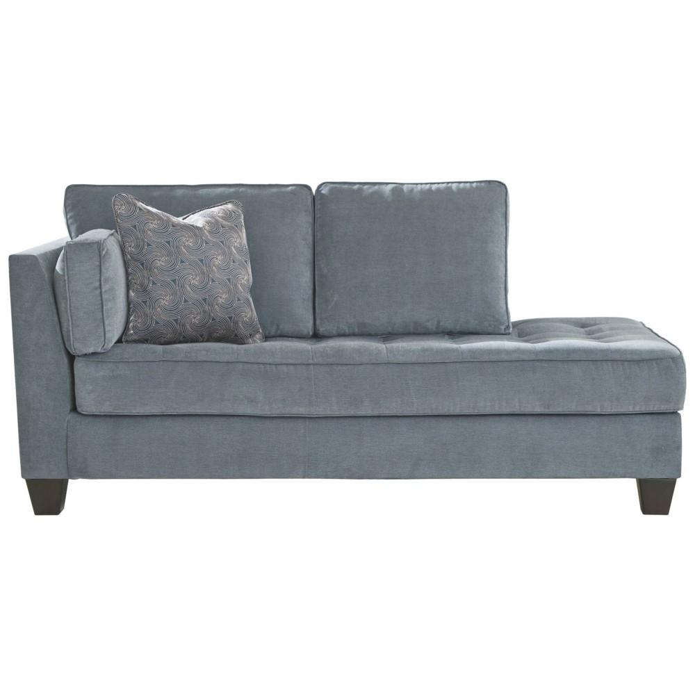 Image of Sciolo Left Arm Facing Chaise Lounger Cobalt - Signature Design by Ashley, Blue