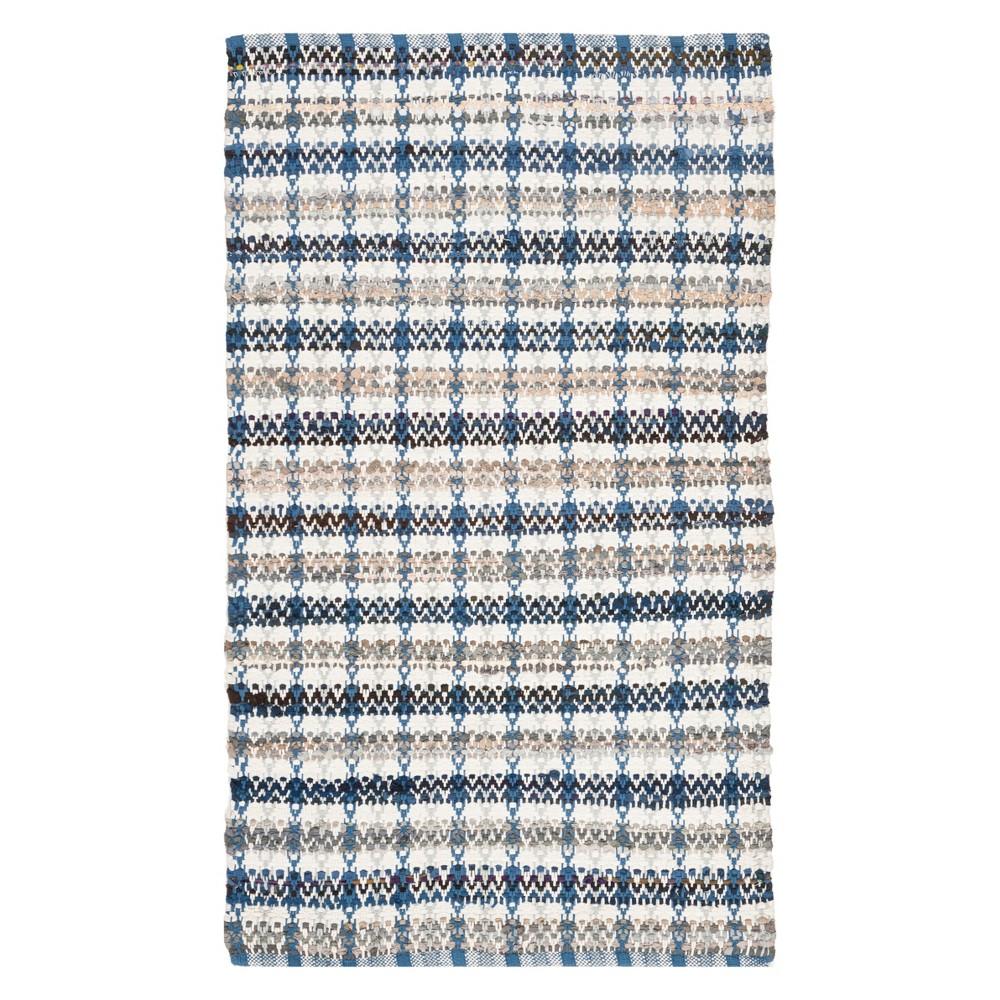 3X5 Stripe Woven Accent Rug Blue - Safavieh Compare