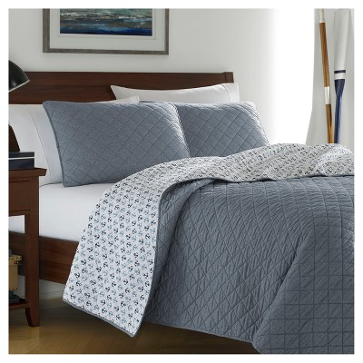 Chambray Blue Finn Quilt Set (King)- Poppy & Fritz®